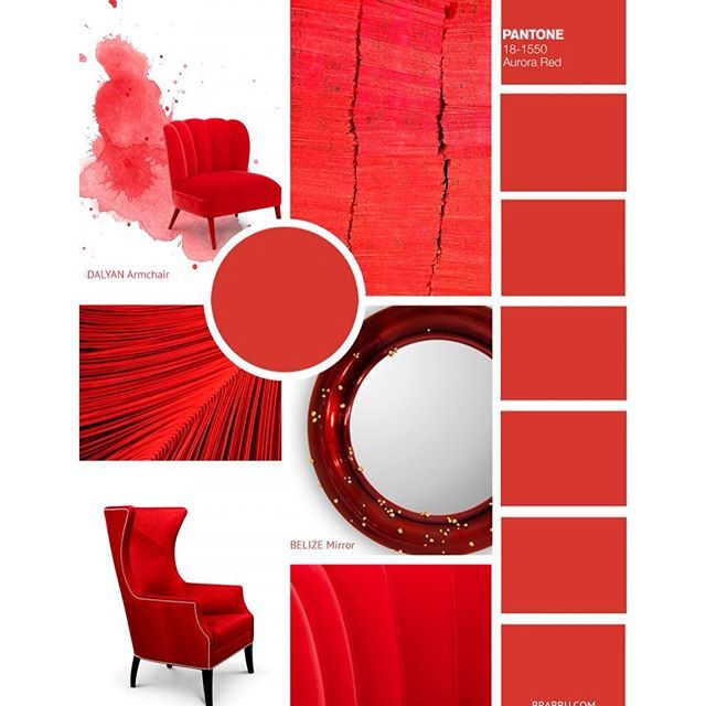 #Fall2016ColorTrends: Aurora Red is a warm sensual shade of red that will help create a bold daring space. What's your favorite color trend for the next season? Share us your thoughts! #falldecor #falldecor2016 #pantone2016 #aurora