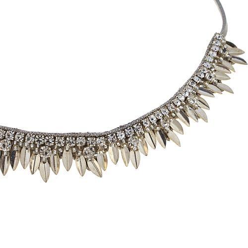 "deepa by Deepa Gurnani® ""Wren"" Beaded Soft Choker Necklace - Metallic"