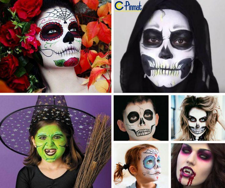 M s de 25 ideas incre bles sobre pintura de cara de - Pintura cara halloween ...