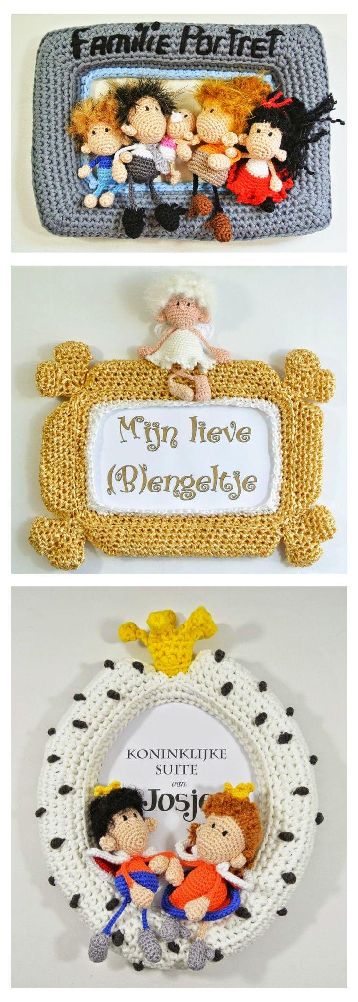 Crochet frames - Haakpret #amigurumi #kids_room