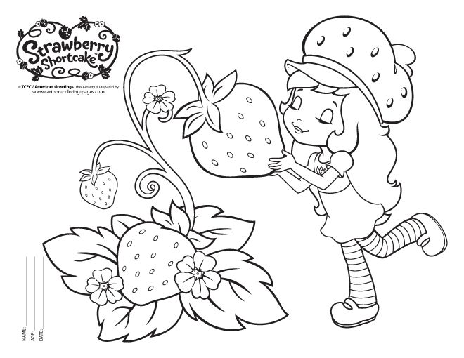 strawberry short coloring pages - photo#35