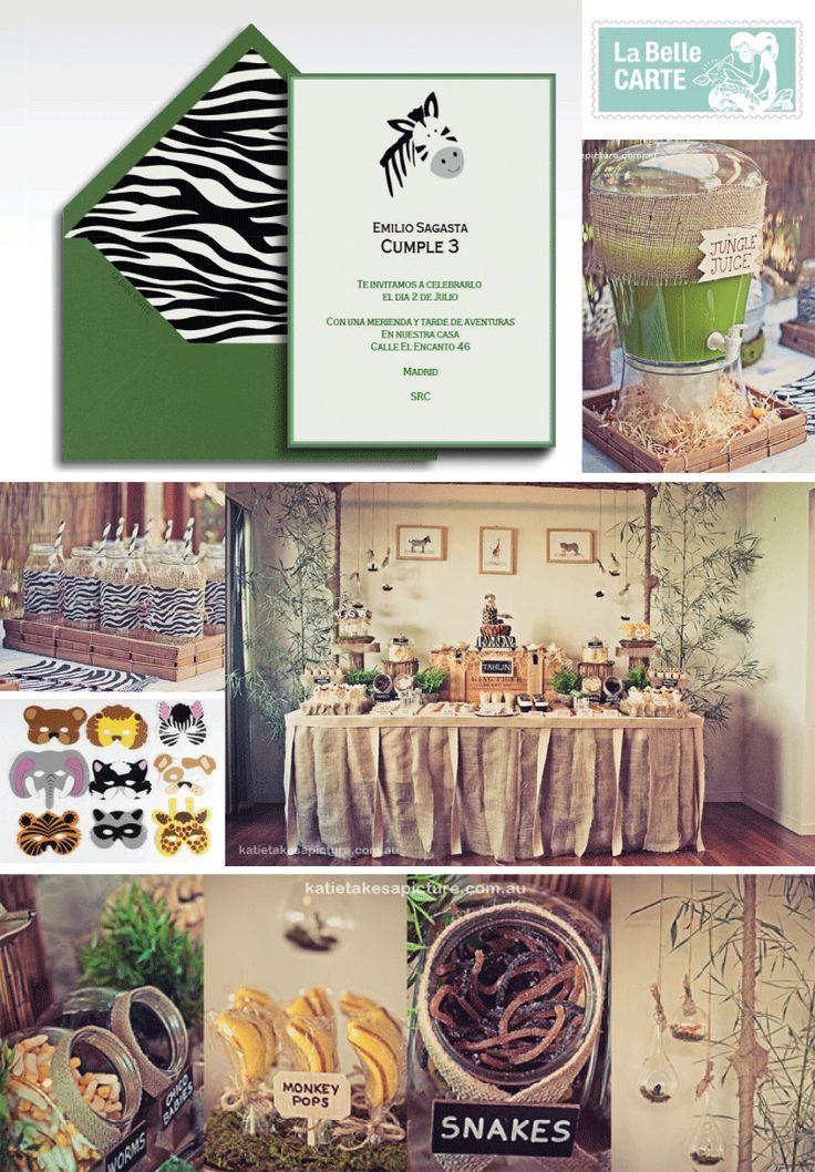 Safari zoo jungle theme birthday party ideas