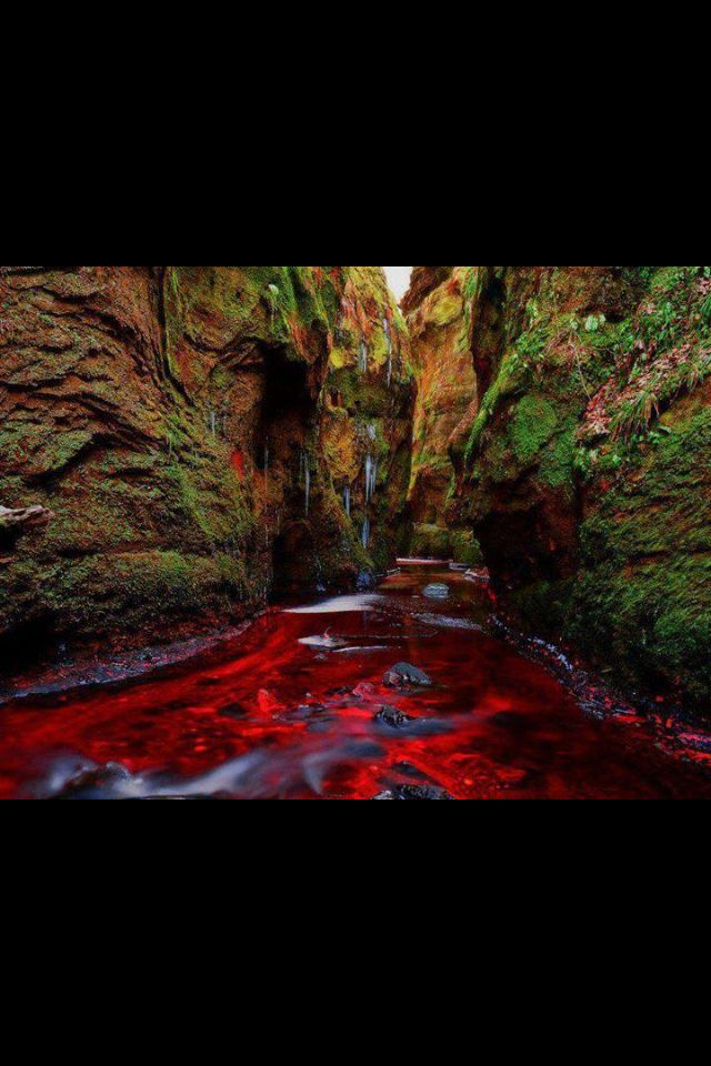 Blood river, scotland