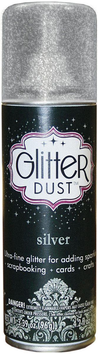 Glitter Dust Aerosol Spray 4.2oz-Silver