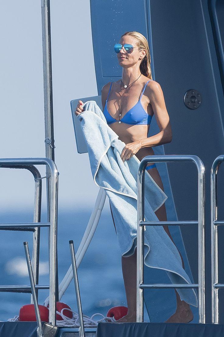 Heidi Klum Bikinis with Boyfriend Vito Schnabel in St. Tropez