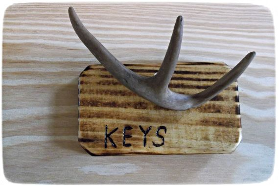 17 best images about home decor on pinterest bathrooms decor mason jar bathroom and home - Antler key rack ...