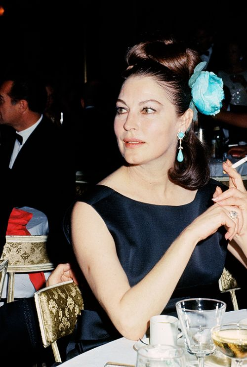 Ava Gardner at the premiere of The Bible, 1966....Uploaded By  www.1stand2ndtimearound.etsy.com