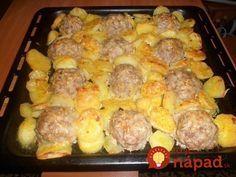 Skvelý obed z jedného plechu: Mäsový ježkovia so zemiakmi a syrom!