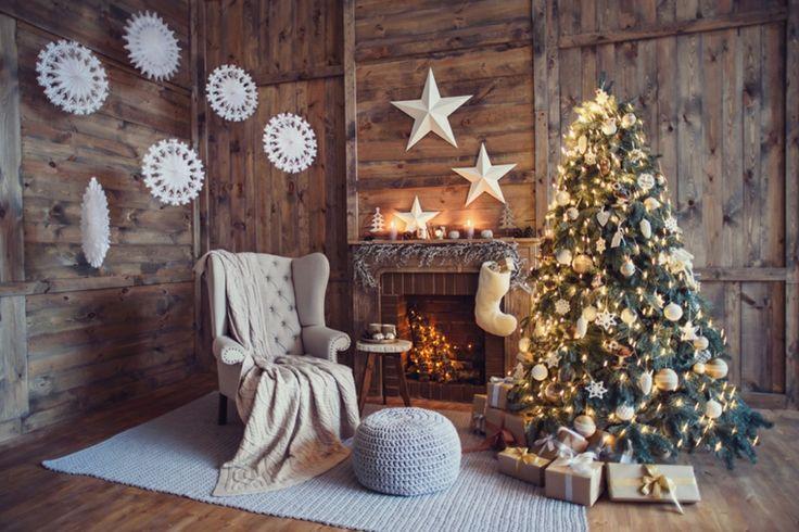 Ideas de adornos navide os blanco en la pared estilo y - Ideas para arreglos navidenos ...