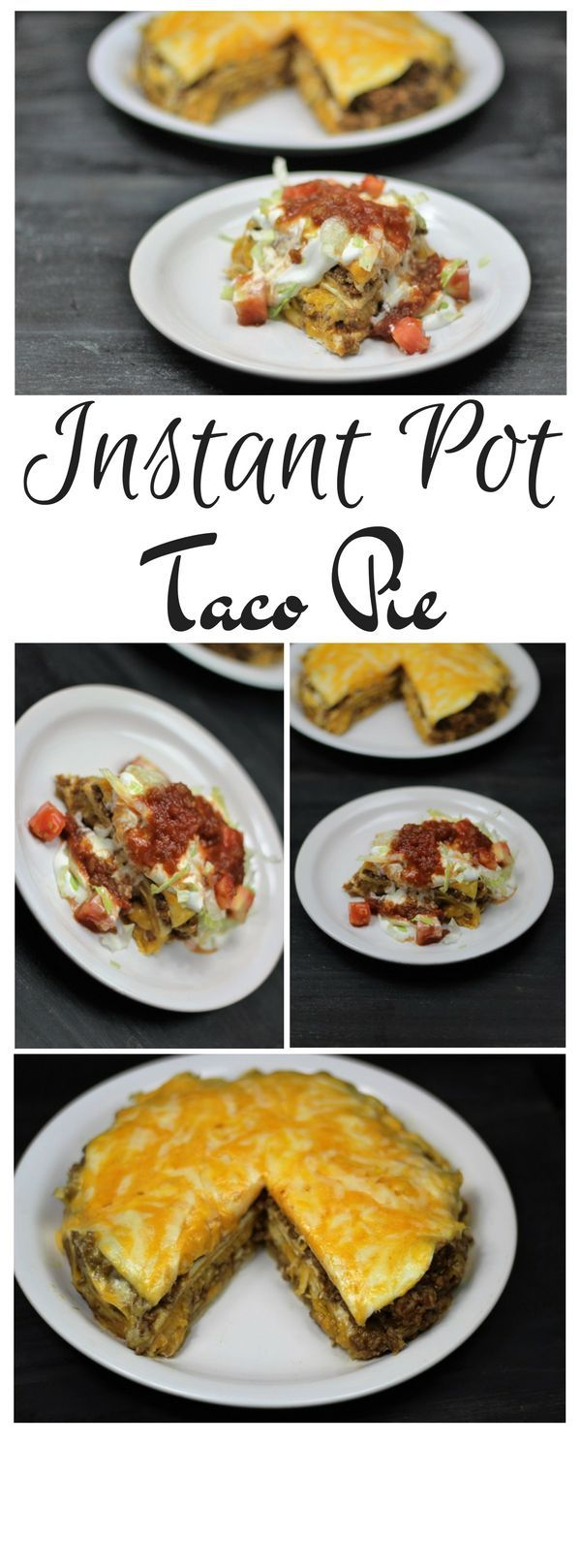 Instant Pot Taco Pie is my go to super quick and easy dinner! We have it at least once a week. Our favorite things to top it with is Doritos, sour cream and salsa.
