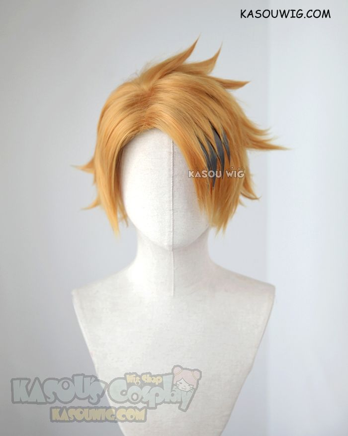 [Kasou Wig] My Hero Academia Kaminari Denki short layered golden wig