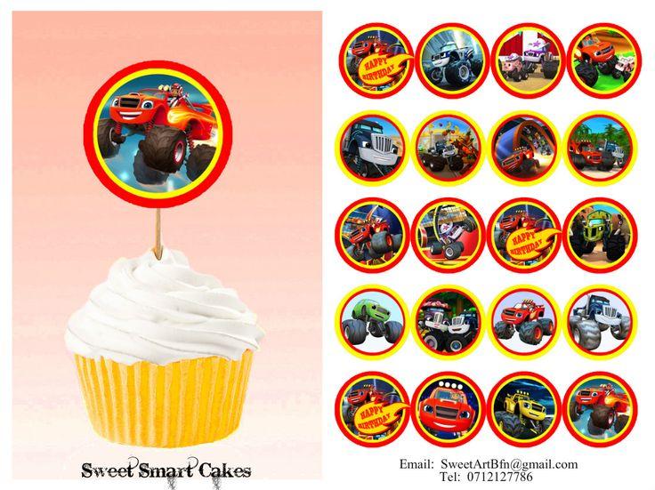 20pc double sided Blaze themed cupcake pix PLUS 15g edible fondant stars. Price: R35