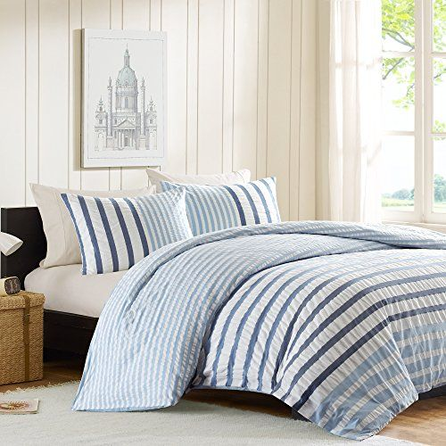 Ink+Ivy Sutton Teen Boys Duvet Cover King Size - Blue, Striped – 3