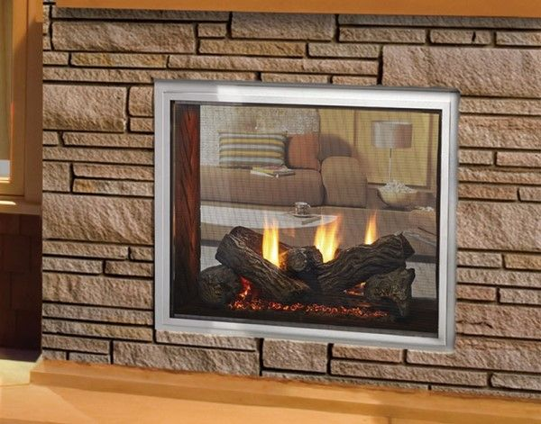 Majestic Odfortg 36 Fortress See Through Indoor Outdoor Fireplace