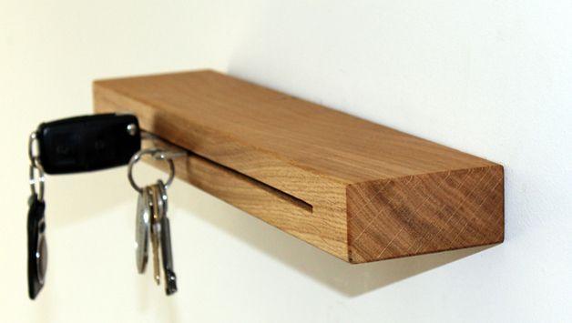 Wandregale - Schlüsselbrett Eiche - ein Designerstück von falkone bei DaWanda
