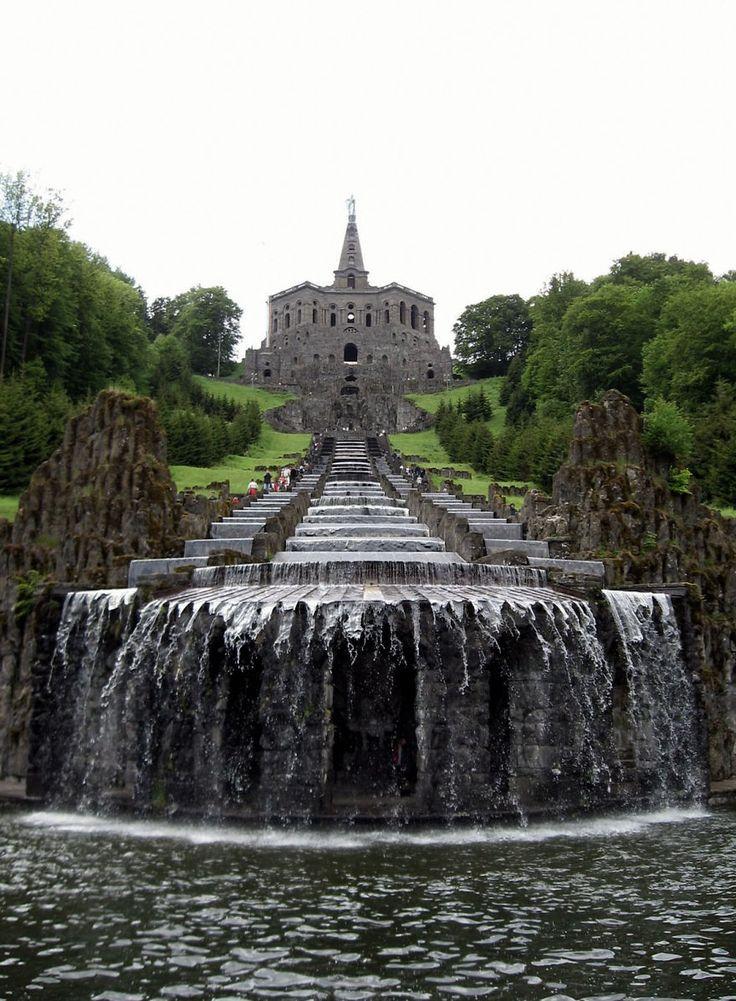 Les cascades du parc Wilhelmshöhe - Cassel Allemagne