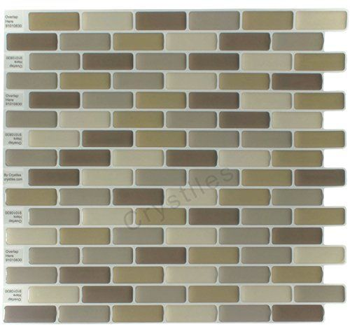 Crystiles Peel and Stick SelfAdhesive Vinyl Wall Tiles Item 91010830 10 X 10 Set of 6 ** Learn more by visiting the image link.