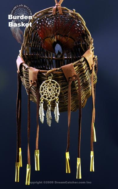 Burden Basket...reminder to leave burdens outside of your home. I love Native American culture!