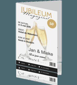 50 jubileumkaart in tijdschrift champagne