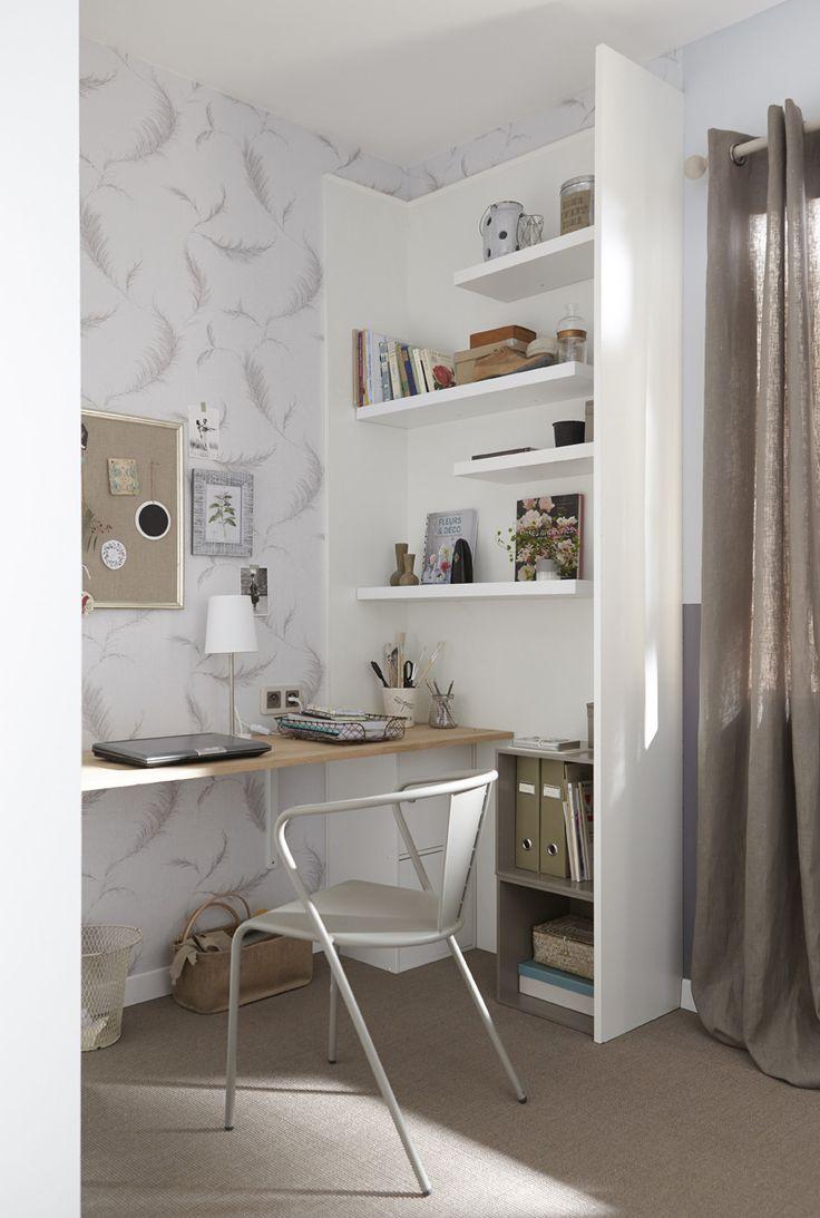 les 58 meilleures images du tableau bureau sur pinterest leroymerlin fr choix et deco bureau. Black Bedroom Furniture Sets. Home Design Ideas