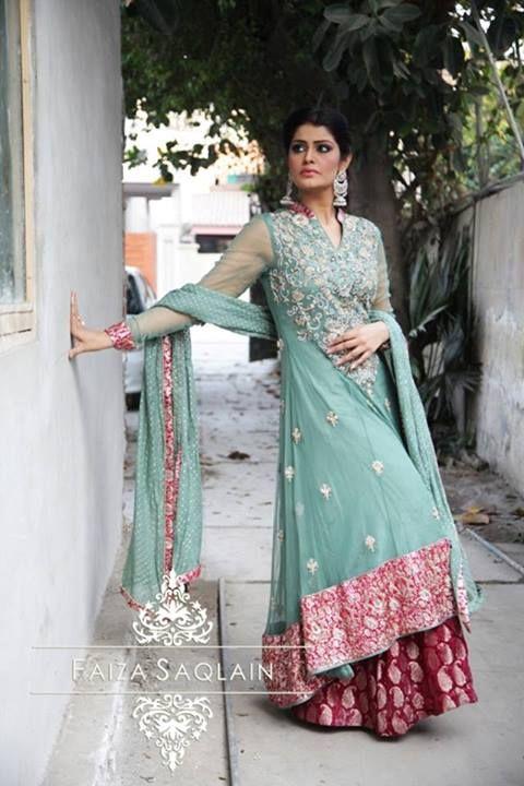 Faiza Saqlain Beautiful Party Wear Dresses 2014 For Women
