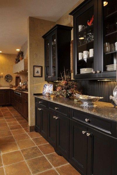 67 best kitchen ideas images on pinterest for Black beadboard kitchen cabinets