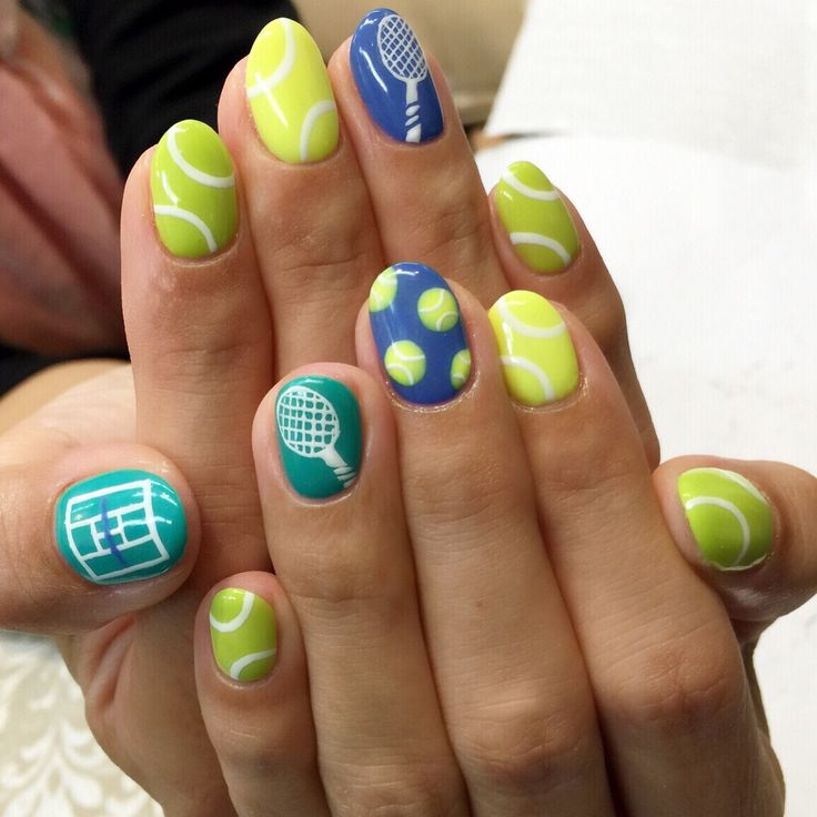 10 best tennis nails images on pinterest cute nails nail art for tennis event prinsesfo Choice Image