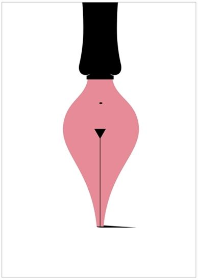 Love this! Hurrah for optical illusions and negative space!