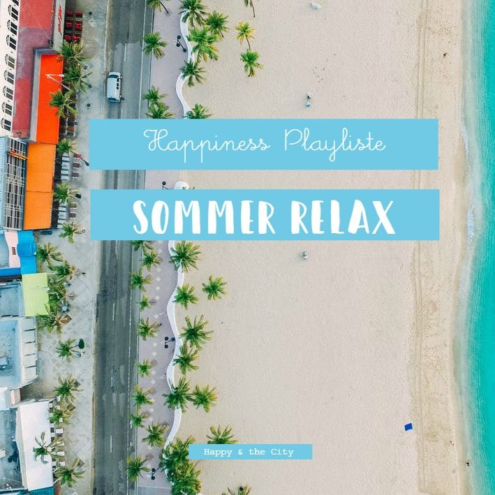 Happiness Playliste für den Sommer bei Spotify zum Thema Sommer Relax inklusive Beach Boys, Miley Cyrus und Kylie Minogue