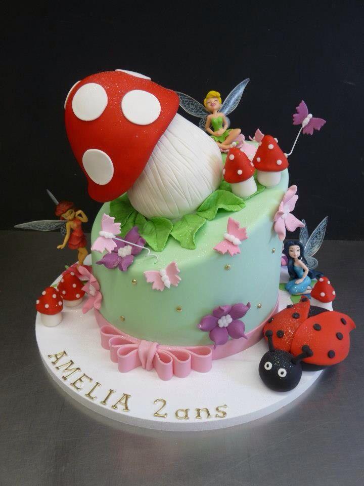 Gâteau anniversaire Fée Clochette