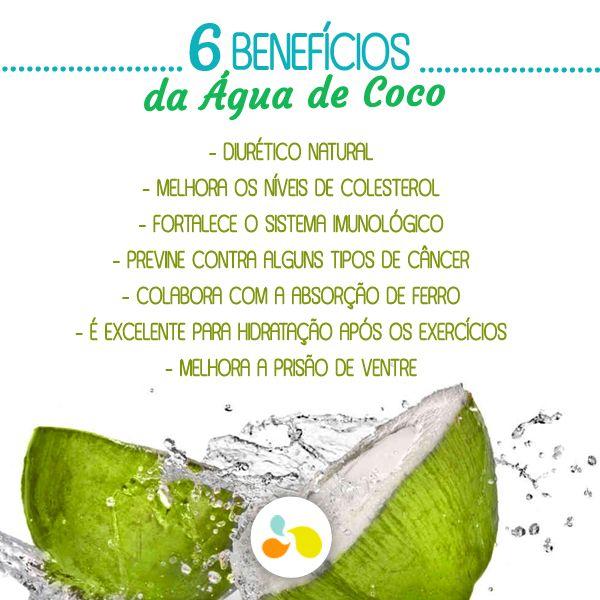 A água de coco, além de matar a sede faz bem à saúde! http://goo.gl/bUlyjv