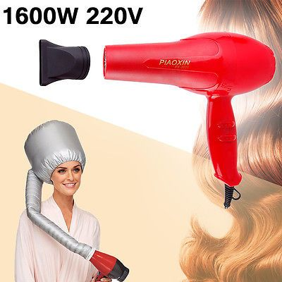 Pro New Hair Blow Dryer 1600W Hot Air Blower Dryer Cold Wind Salon + Hood