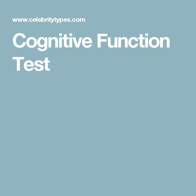 Cognitive Function Test