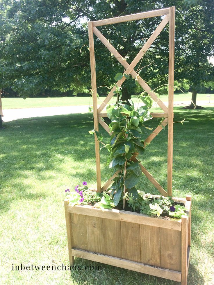 Cedar Planter with X Trellis   Do It Yourself Home Projects from Ana White