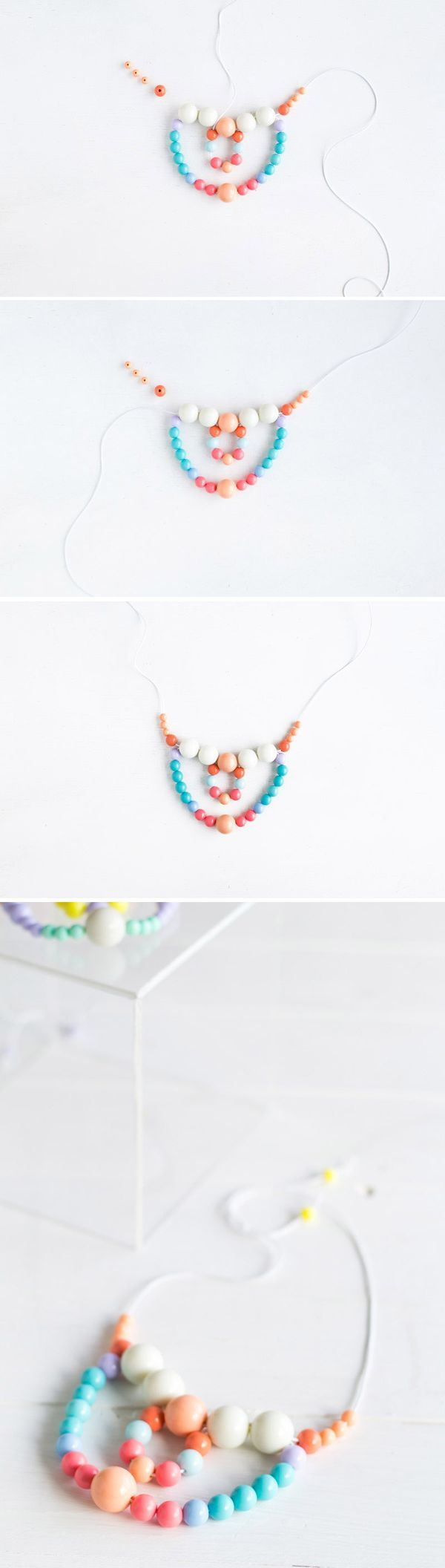 Beaded Necklace tutorial | Fall For DIY steps. A great jewelry gift for Christmas!