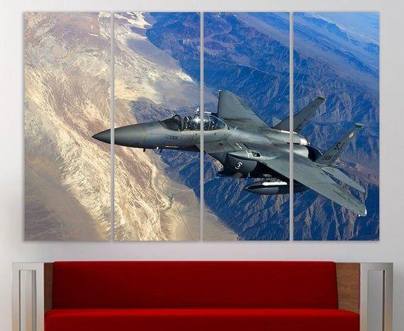 Aircraft Canvas Wall Art Fighter Jet Canvas Airplane Wall Art Etsy Airplane Wall Art Canvas Wall Art Plane Wall Art