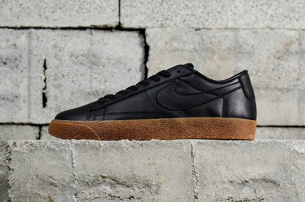 UK Trainers 2018 Nike Blazer Sb GT Black Noir Gum AJ3733-991 Fashion Skate  Shoes Youth Big Boys Shoes 0823ddb64