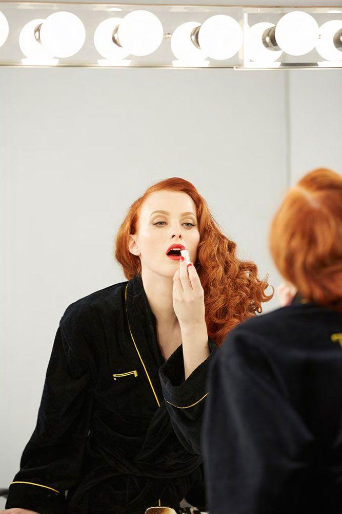 Karen Elson's gorgeous red mane