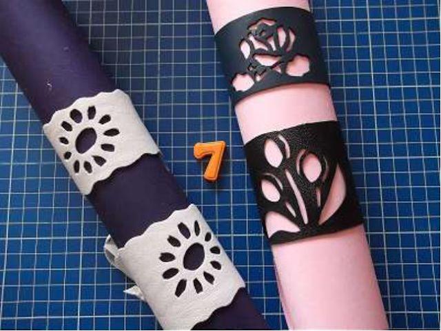 Riciclo Creativo - Craft and Fun: Come fare dei bracciali fai da te in cuoio o pelle usando gli stencil