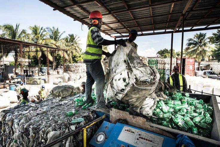 Thread Is Using Recycling From Haiti To Eliminate New Plastic From Your Clothes  How a former MTV host is creating cleaner clothes and jobs in Haiti. The method reduces energy consumption by 80% compared to making virgin polyester, but the cost to clients is roughly 10% higher.