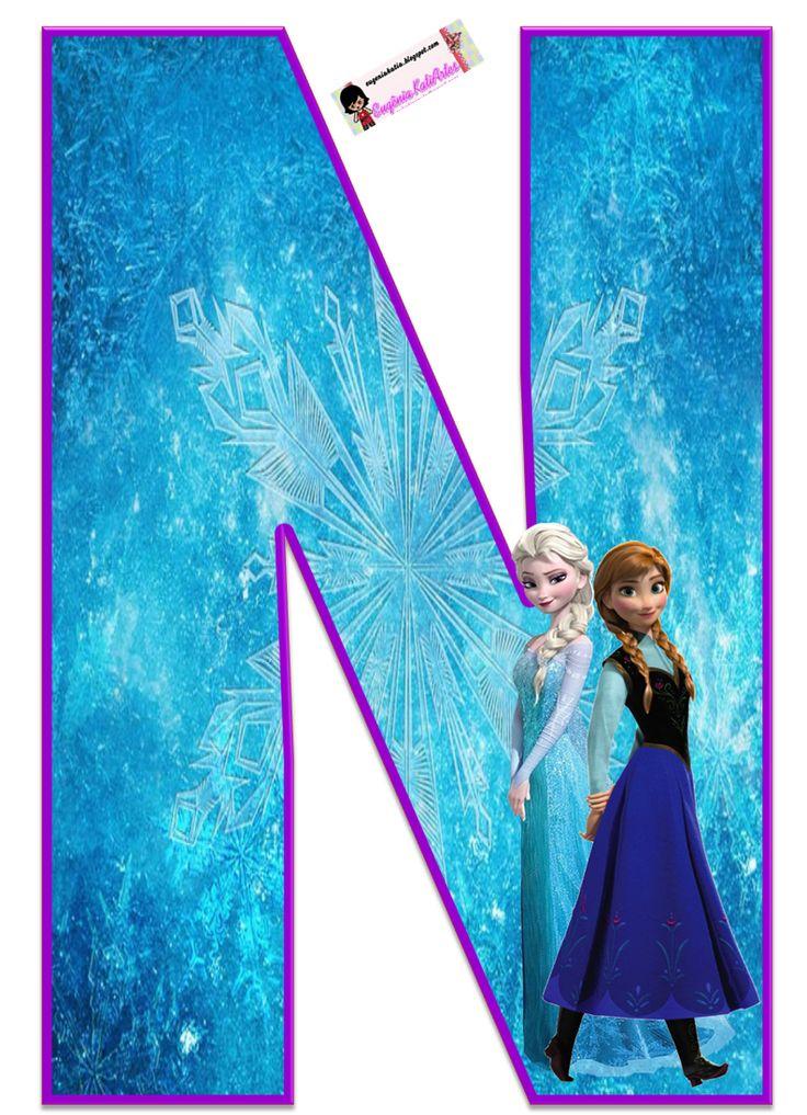 Frozen: Free Elsa and Ana Alphabet. Frozen: Bello Alfabeto Gratis de Elsa y Ana.