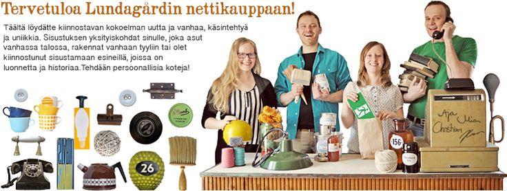 Lundagård. Pietarsaaren lähellä toimivan Lundagårdin nettikaupassa on sisustustuotteita perinnerakentajalle.