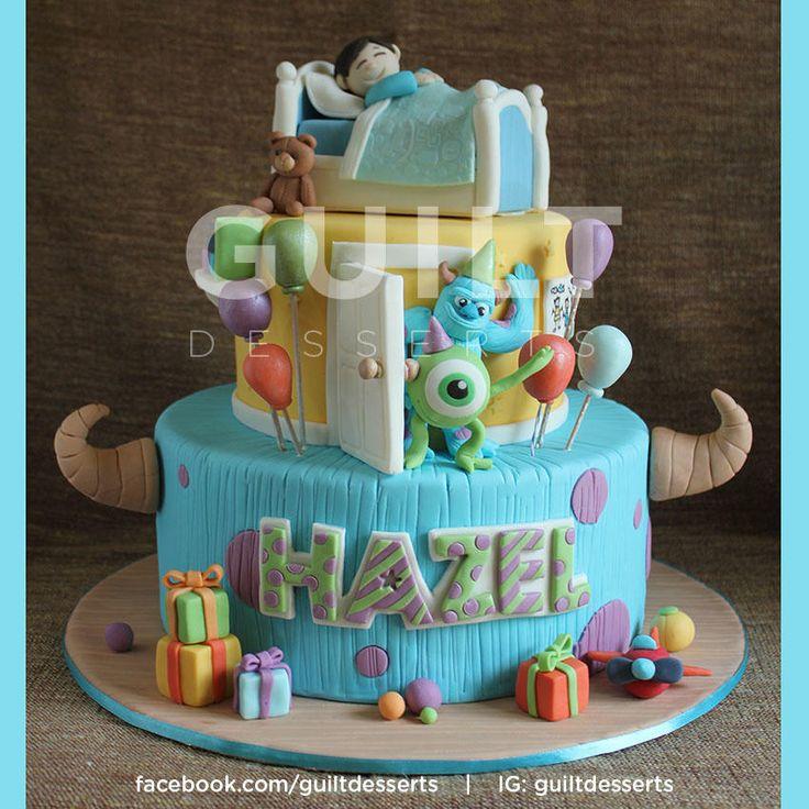 Monster Inc! - Cake by Guilt Desserts