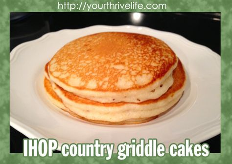 IHOP Country Griddle Cakes & Buttermilk Substitute Recipe
