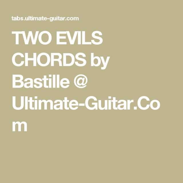 bastille two evils guitar