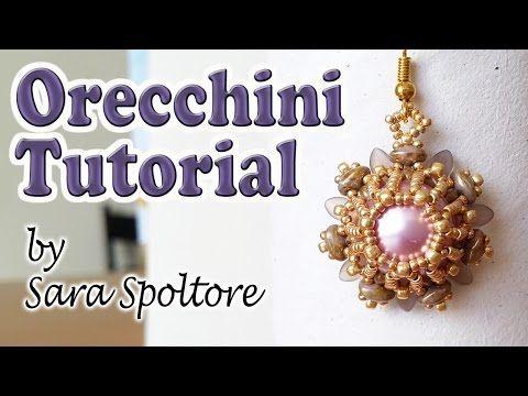 Come fare orecchini con perline - Tutorial perline - Come realizzare orecchini fai da te - YouTube