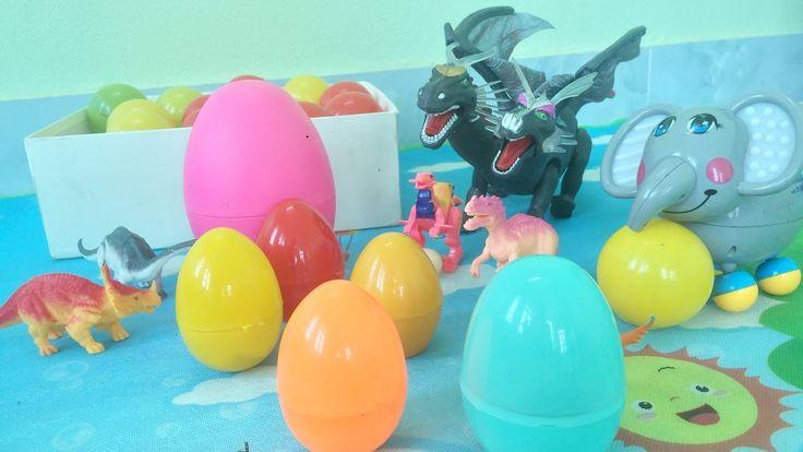 Surprise giant eggs dinosaurs toys for kids Bóc trứng khủng long khổng l...