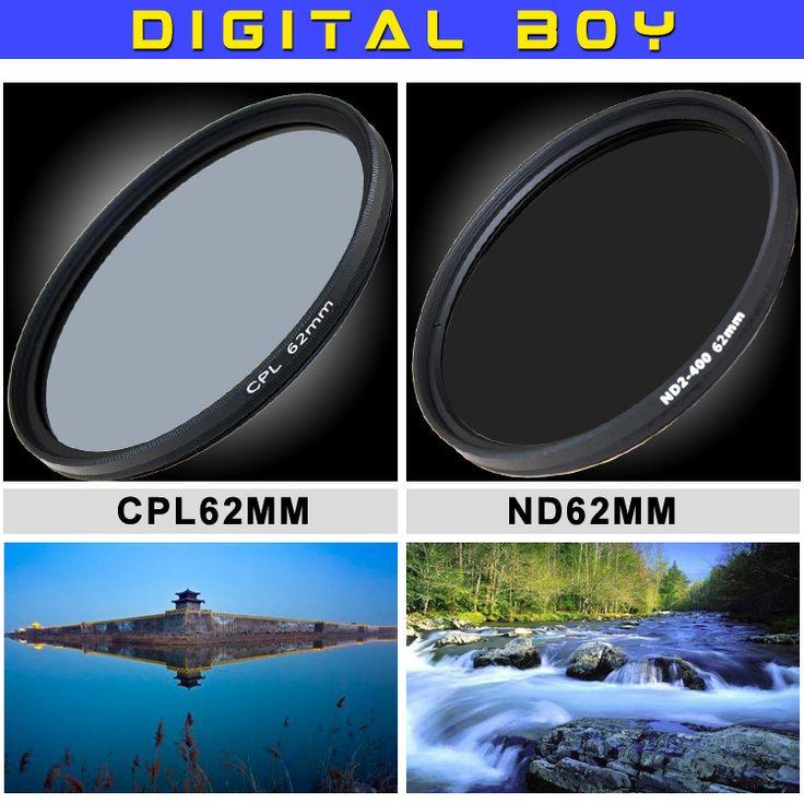 Дешевое Цифровой мальчик 62 мм cpl поляризационный кольцо + 62 мм ND2 400 фильтры комплект для канона NIKON сони фотоаппарат олимпус камеры, Купить Качество Фильтры для камеры непосредственно из китайских фирмах-поставщиках:         2014 New-View 58mm Flower Petal Camera Lens Hood For Canon 70-300mm 75-300mm 18-55mm 55-250mm T4I 60D Lens