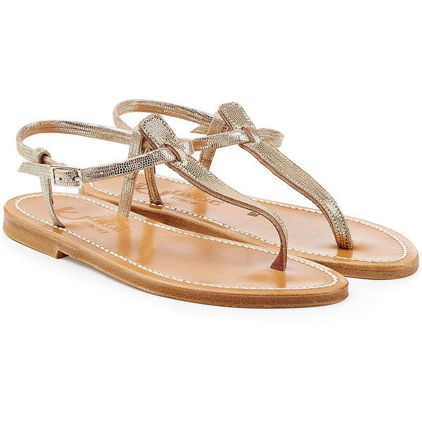 K.Jacques Leather Sandals ($190) ❤ liked on Polyvore featuring shoes, sandals, silver, special occasion sandals, leather sandals, k jacques shoes, k jacques sandals and holiday shoes
