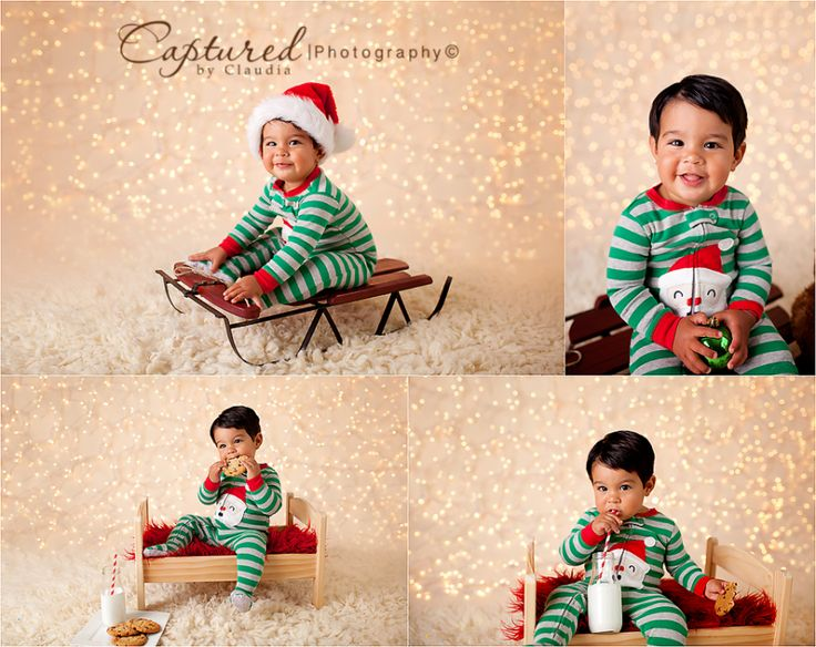 Christmas Pajama mini session Cookies and milk Captured By Claudia Photography